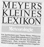MEYERS KLEINES LEXIKON Meteorologie