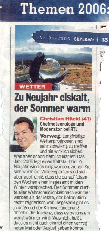 Ausschnitt aus der SUPER-ILLU 01/2006