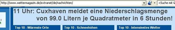 Screenshot am 16.05.2006 wettermagazin.de
