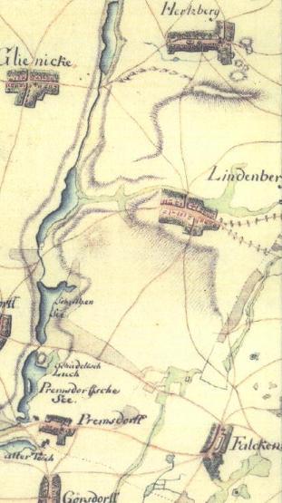Schmettau'sche Karte von 1767/1786, Quelle und Lizenzrechte: Staatsbibliothek zu Berlin, Kartenabteilung