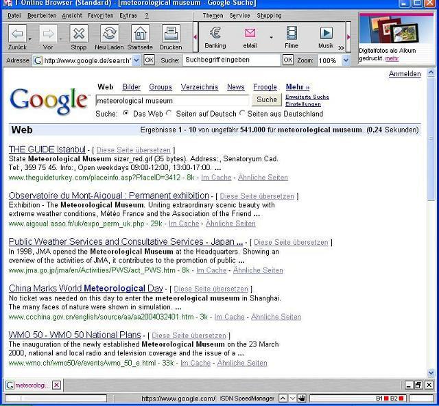 Google-Recherche am 20.01.2006 ..
