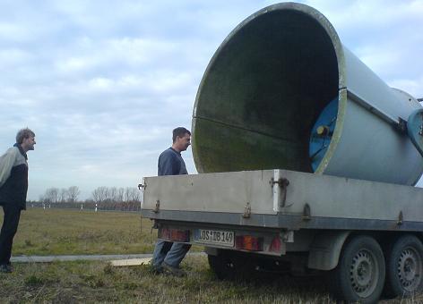 SODAR Abtransport mit einem 2x3 m Hänger