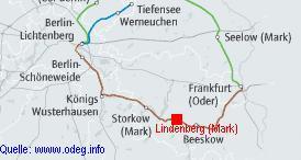 Das ODEG-Streckennetz südöstlich Berlins