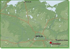 Lindenberg liegt südöstlich Berlins