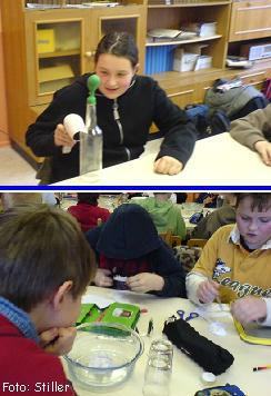24.01.2007: auch einfache Experimente können begeistern  ...