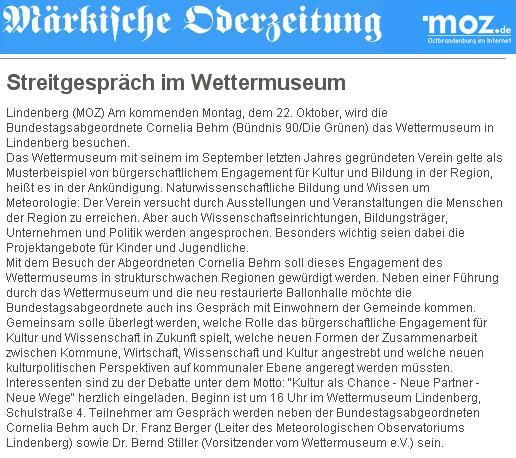 Screenshot MOZ Online