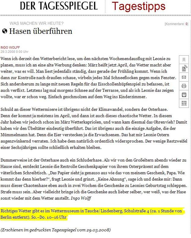 Tagesspiegel Online ...