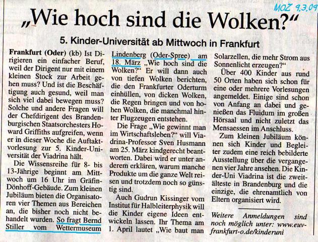 Ausriss MOZ Fürstenwalde