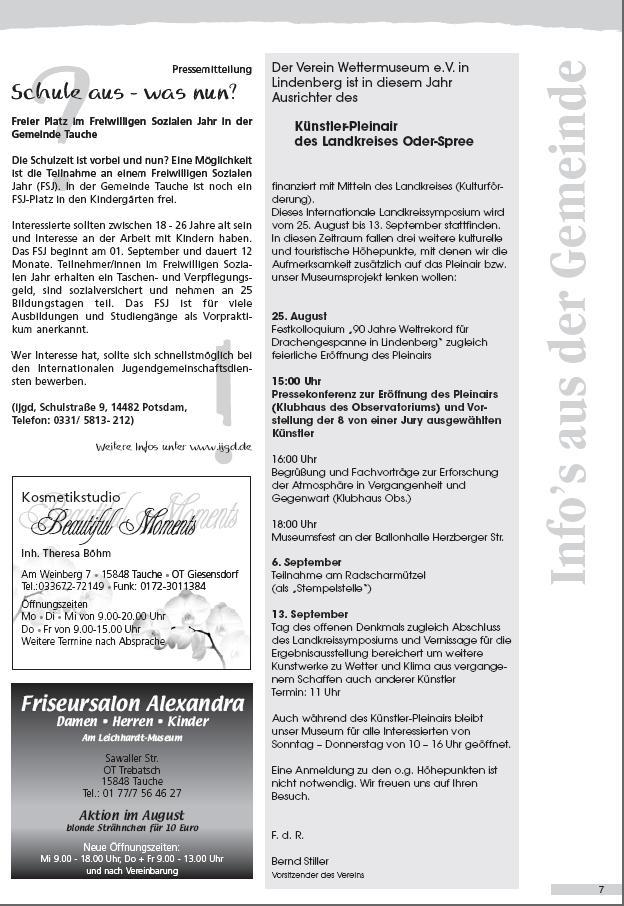 Ausriss Amtsblatt