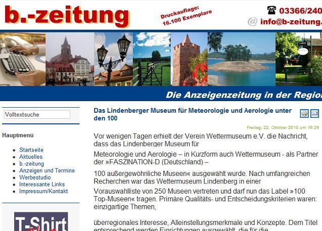 Screenshot Online-Version ..