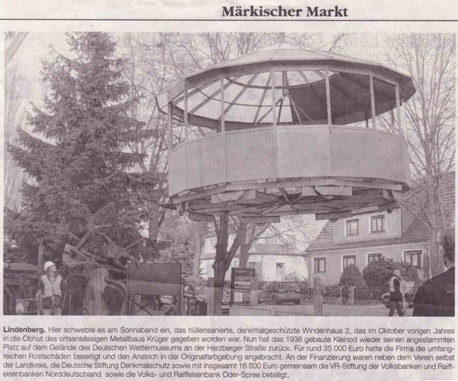 Ausriss Märkischer Markt 26./27.01.2011