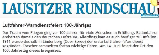 Screenshot Lausitzer Rundschau Online ...