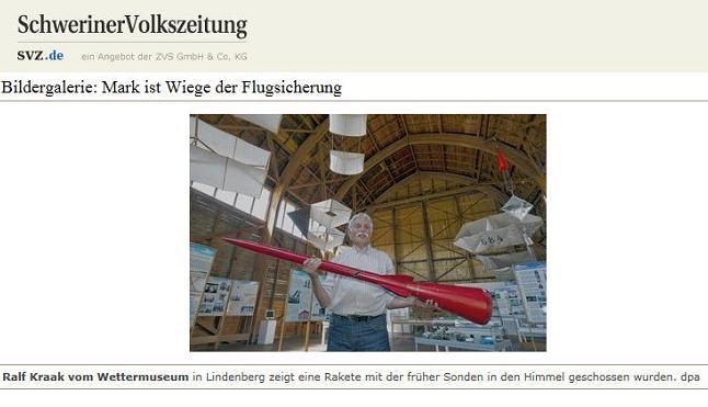 Screenshot Schweriner Volkszeitung Online ...