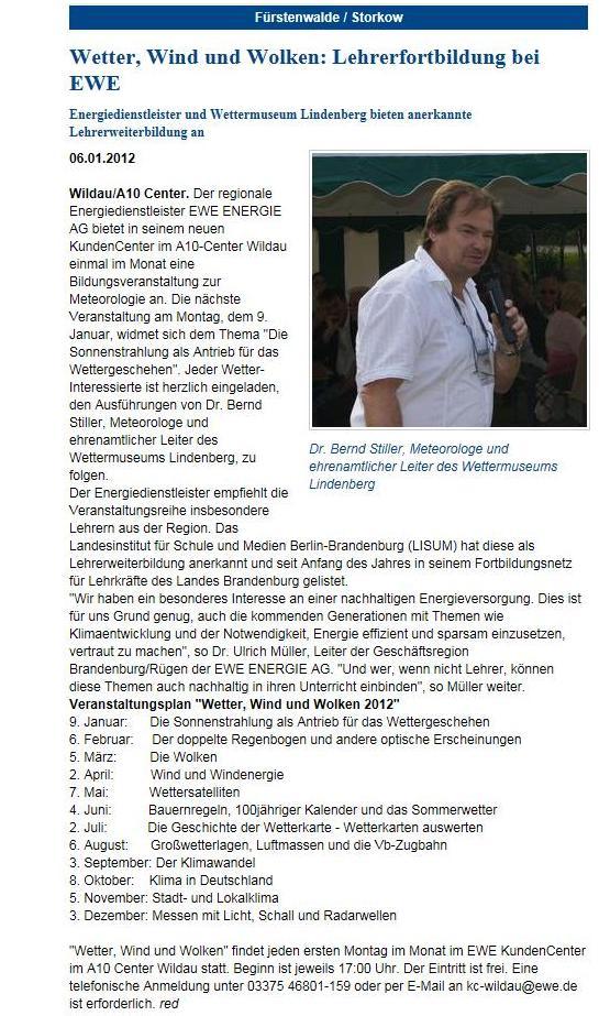 Screenshot Blickpunkt Online ...