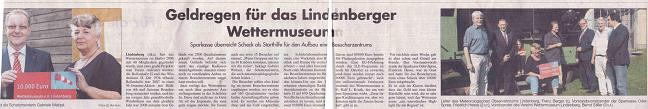 Ausriss Märkischer Sonntag ...