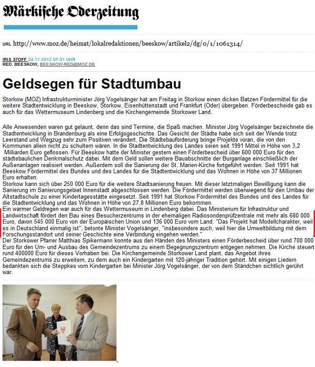 Screenshot Online-Ausgabe ...