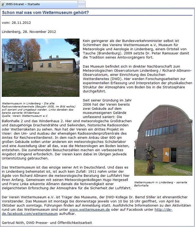 Screenshot Online-Ausgabe