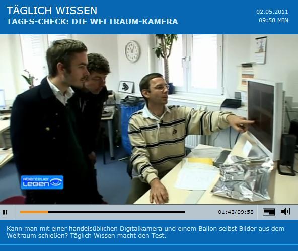 Filmausschnitt mit Vereinsmitglied Holgr Vömel