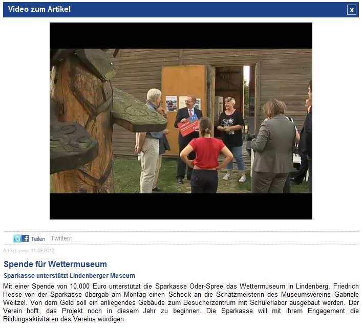 Screenshot ODF Fernsehen
