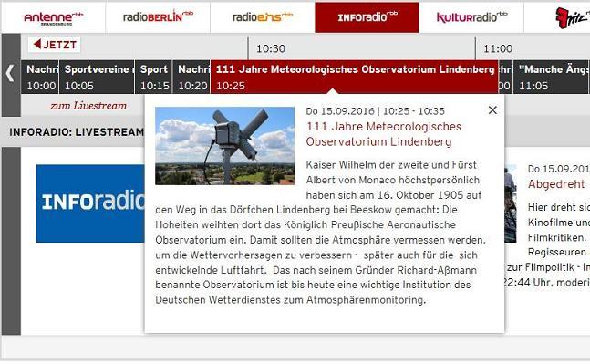 Screenshot RBB-Webseite